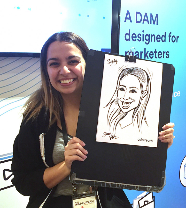 Adstream Live Caricatures Sandy