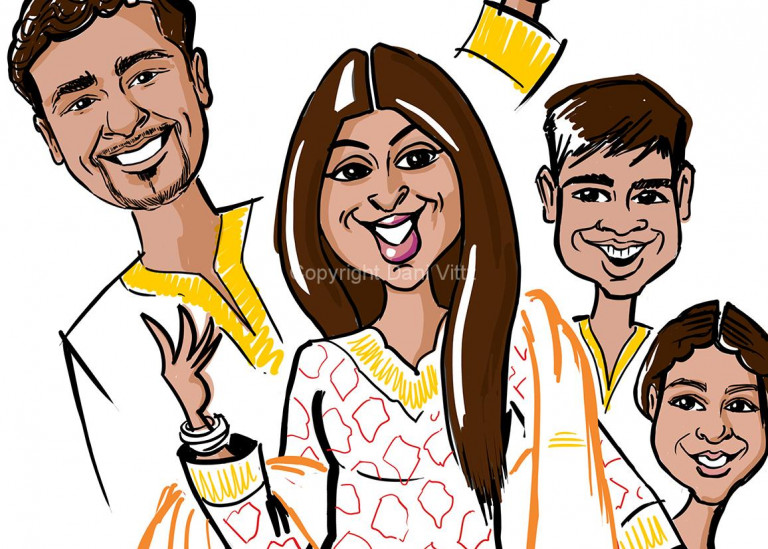 Character Design Indian Family - Pitch