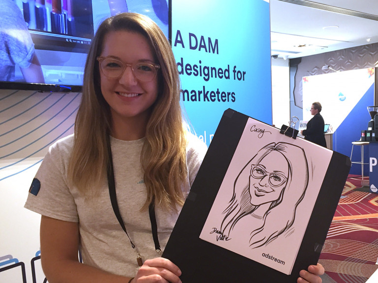 Adstream Live Caricatures Casey