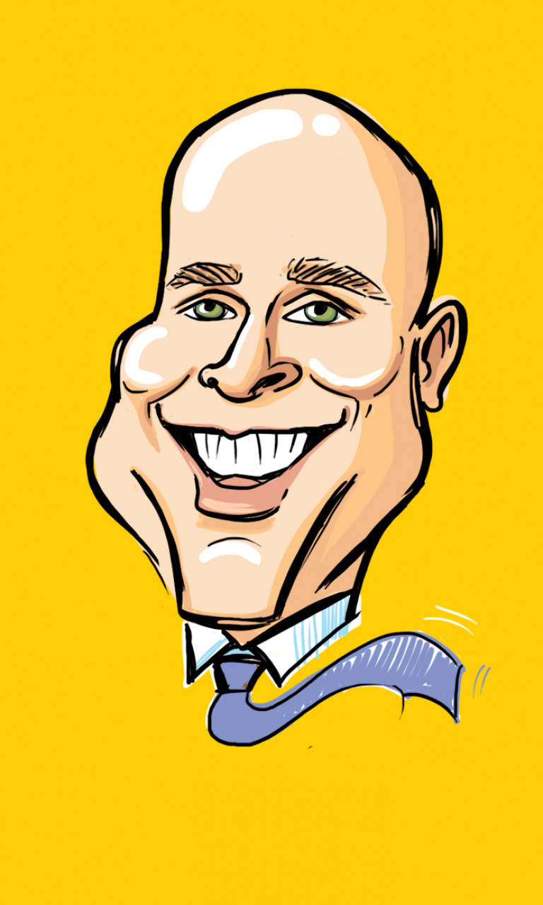 Digital Caricature - Guy on yellow