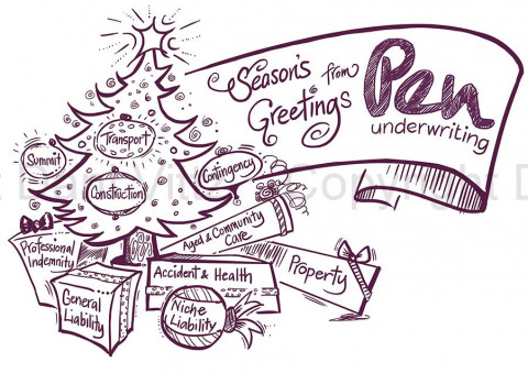 Pen Underwriting - Xmas Illo