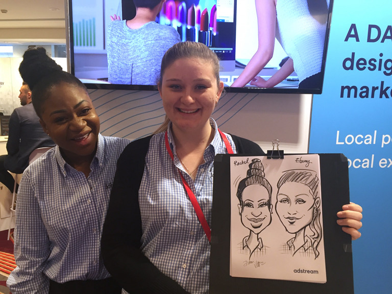 Adstream Live Caricatures, the girls