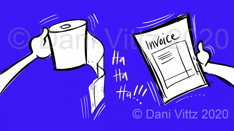 Pay with toilet paper