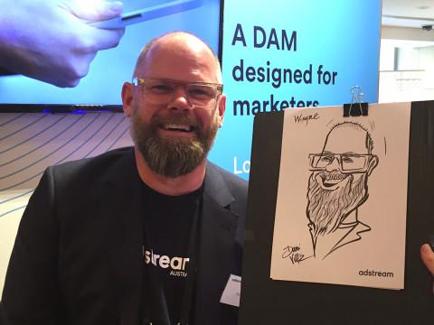 Adstream Live Caricatures Wayne