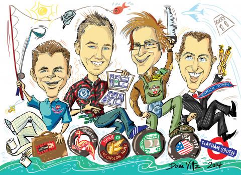 Digital Caricature Portait - The Guys